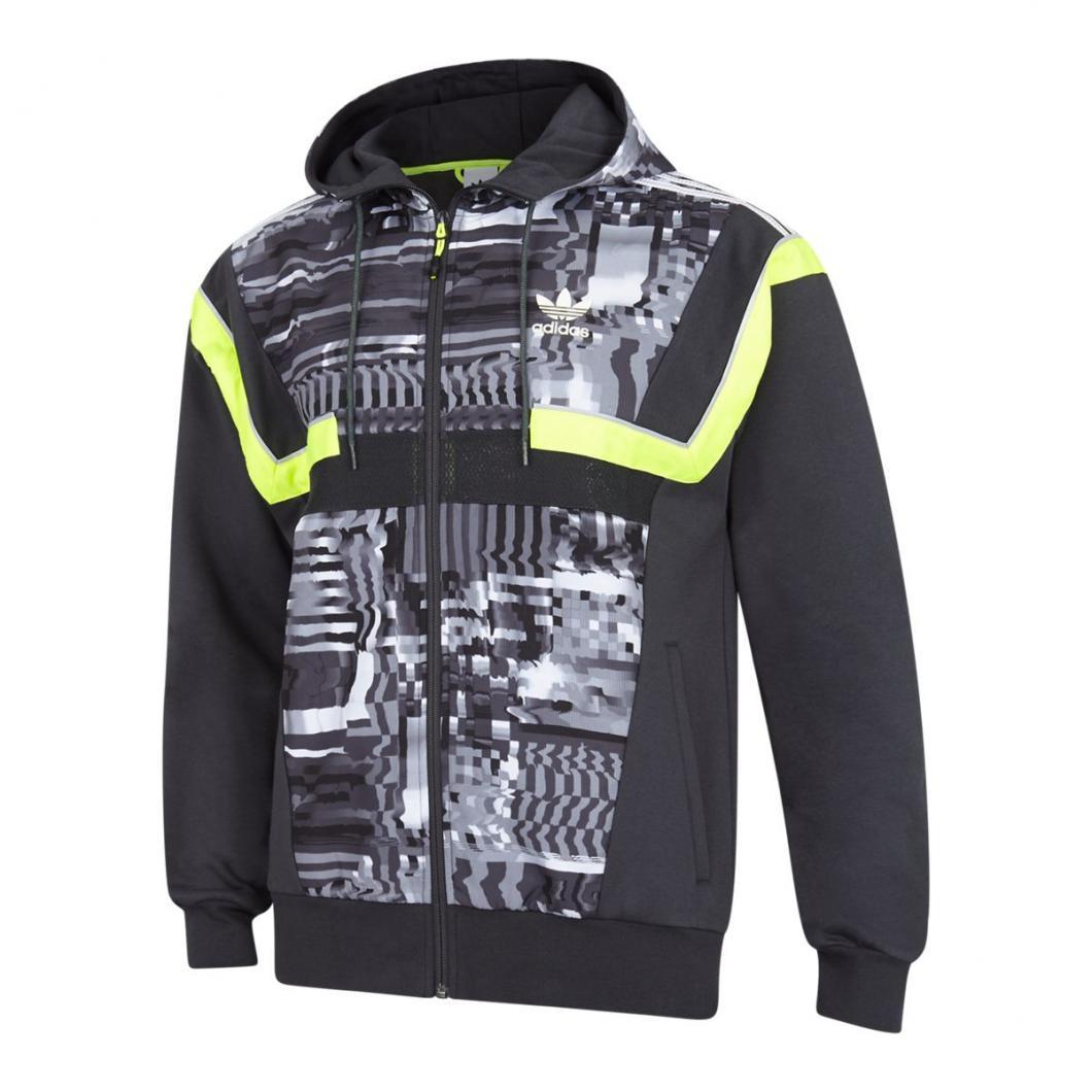 adidas Homme Hoodies | BR8 Full Zip Noir Gris Jaune > Yumobiz