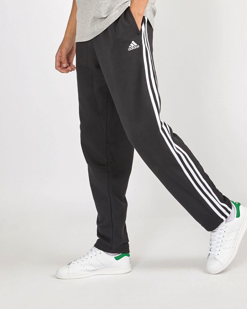 adidas Homme Hoodies   Essential 3 Stripe Full Zip Noir Gris > Yumobiz