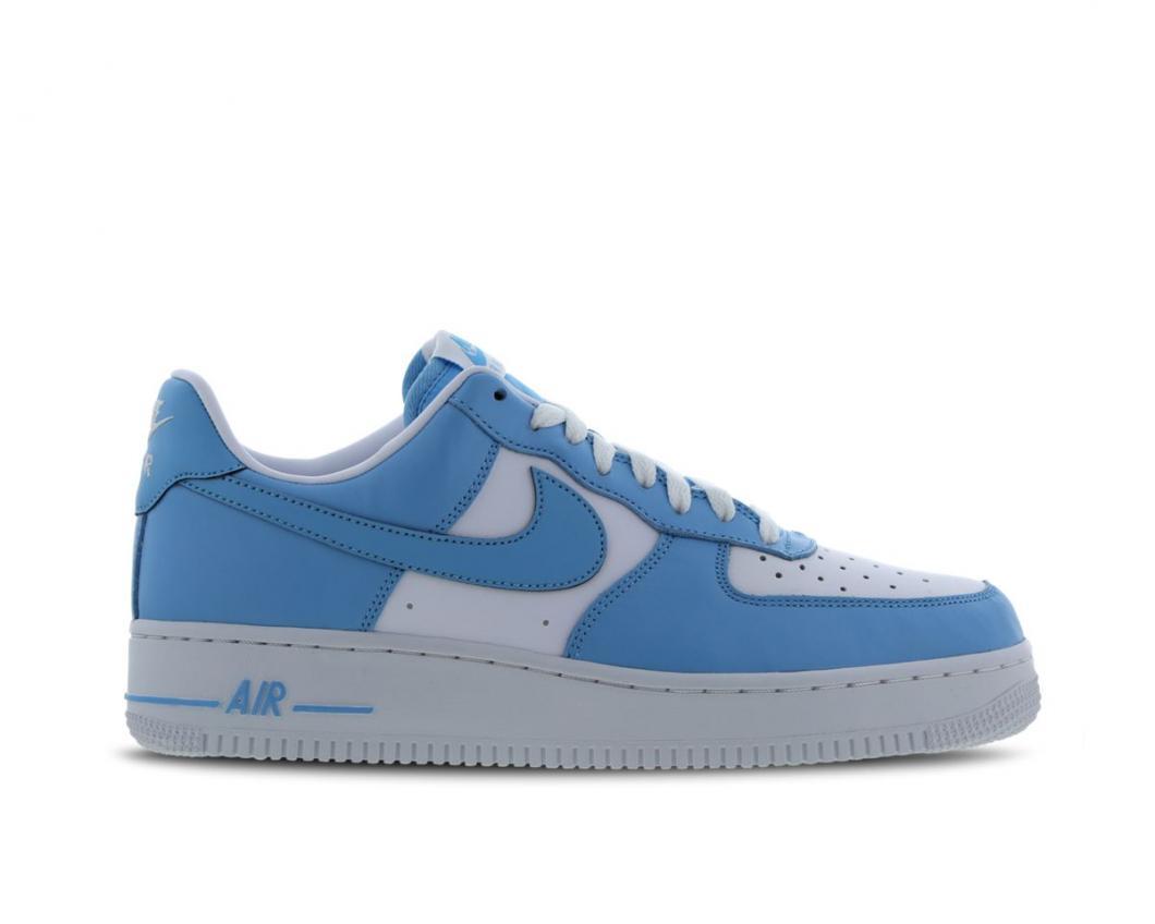 Soldes > nike air force 1 blanche et bleu > en stock