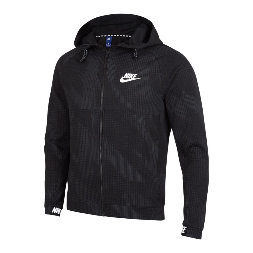 new styles amazing selection really comfortable Nike Homme Hoodies   Advance Fleece Winterised Full Zip Blanc / Noir >  Yumobiz