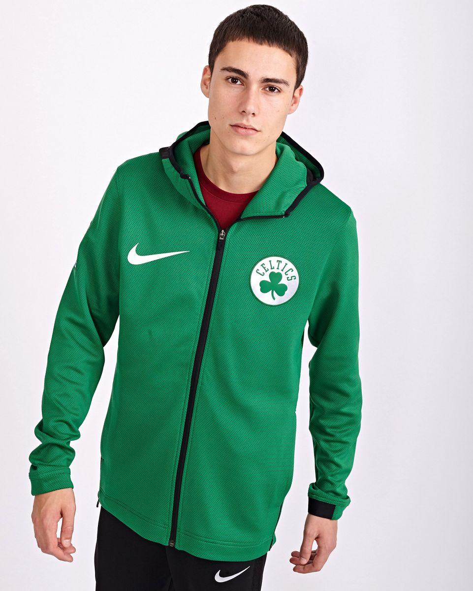 Nike Homme Hoodies   Nba Boston Celtics Thermaflex Showtime Full Zip Blanc Noir > Yumobiz