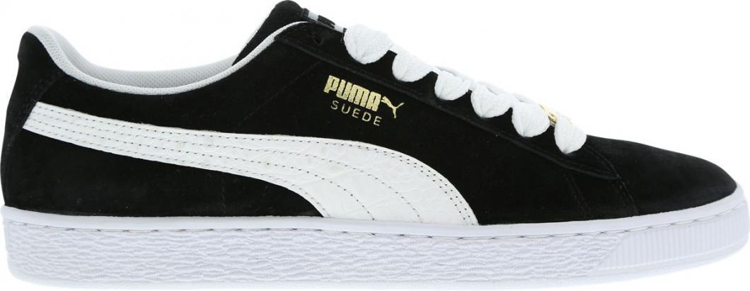 puma suede blanc noir