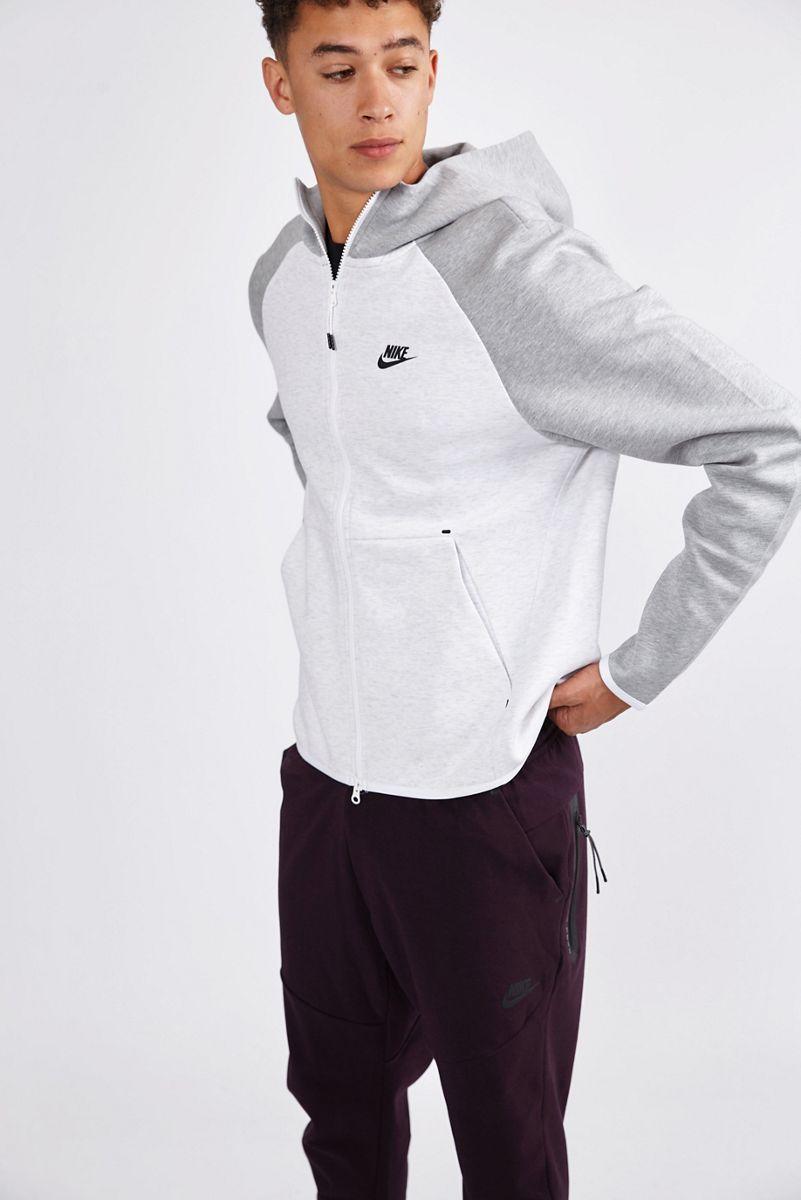Nike Homme Hoodies | Tech Essentials Color Block Full Zip Gris > Yumobiz